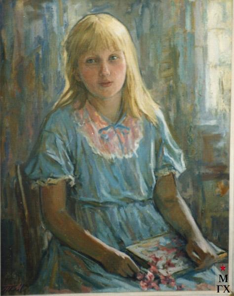 Т.М. Марченко. Портрет девочки. 1986.