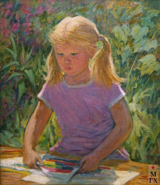 Т.М. Марченко. Девочка рисует.