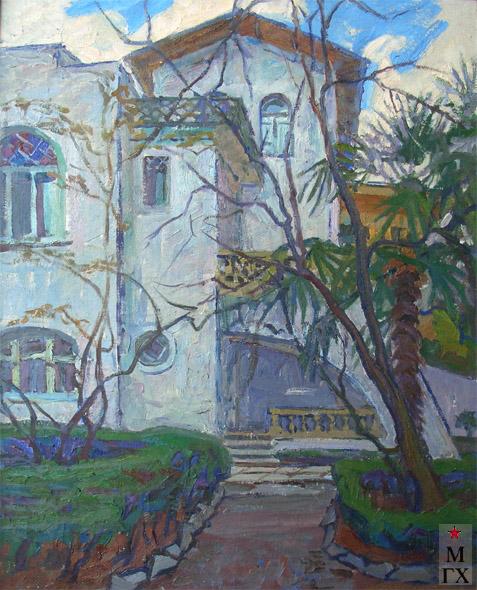 Т.М. Марченко. Дом А.П. Чехова в Ялте. 1972. Х.М. 60х50.