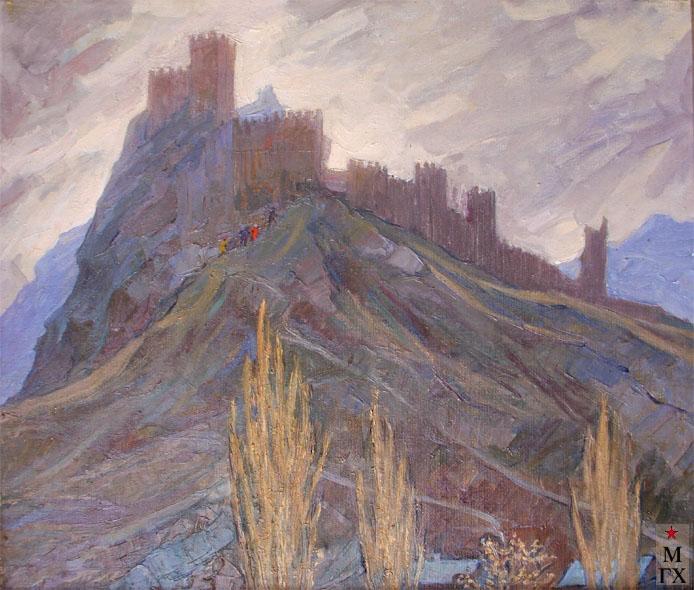 Т.М. Марченко. Генуэзская крепость. 1972. Х.М. 65х80.