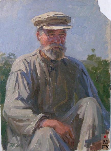 Т.М. Марченко. Портрет старика. 1958. Бум.М.