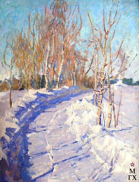 Т.М. Марченко. Зима. 1971. К.М. 70х54