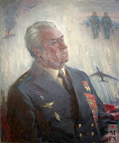 Т.М. Марченко. Дважды Герой Советского Союза, В.И. Попков.