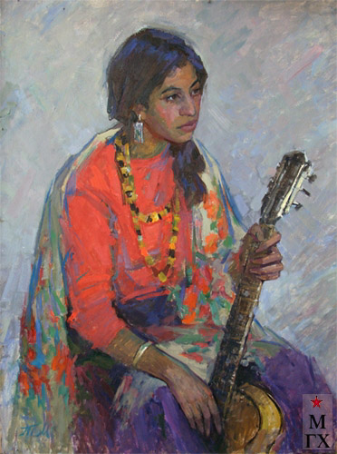 Т.М. Марченко. Девочка-цыганка. 1976. К.М. 100х80.
