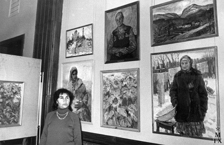Экспозиция Татьяны Михайловны Марченко в ЦДЛ.  Март 1979 г.