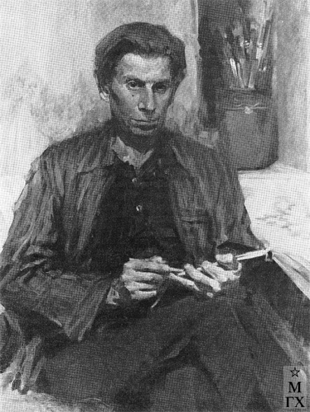 Т.М. Марченко. Портрет художника Н.М. Соловьева. 1956. Х.М. 80х60.