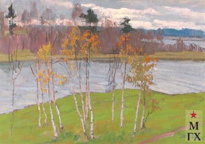 Т.М. Марченко. Осенний пейзаж. 1975. Х.М. 50х70.