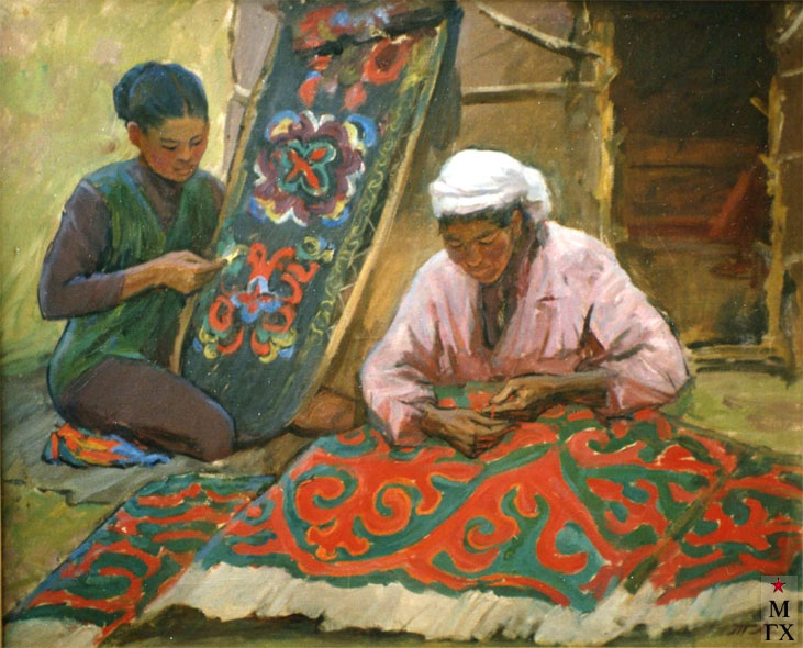 Т.М. Марченко. Киргизские узоры. 1965. Х.М. 65х80