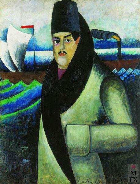 Машков И.И. Картина : Автопортрет. 1911. Холст, масло. 137x107. Государственная Третьяковская галерея, Москва