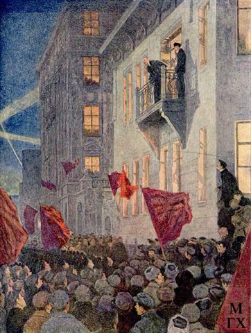 А.В. Моравов. Картина : Выступление Ленина на митинге