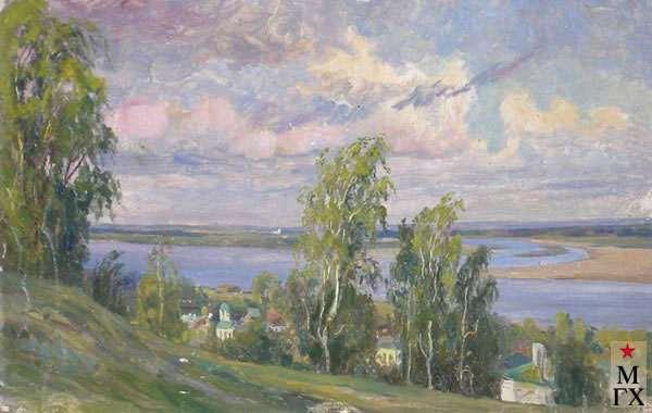 Морозов К. Ф. Заволжье. К.М.17х27.