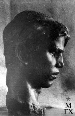 Л.Д. Муравин. Голова партизана. 1945.