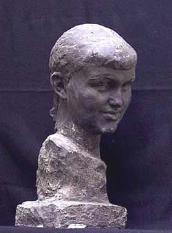 Л.Д. Муравин. Портрет скульптора Брандейс. Гипс.