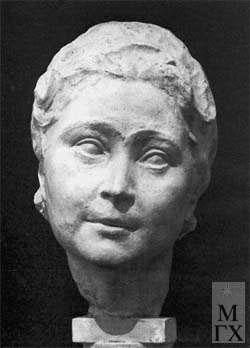 Л.Д. Муравин. Портрет Е.Е. Череповской (гипс, бронза). 1946.