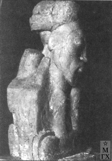 Н.И. Нисс-Гольдман. Я.М. Свердлов в виде каменной бабы. 1918.