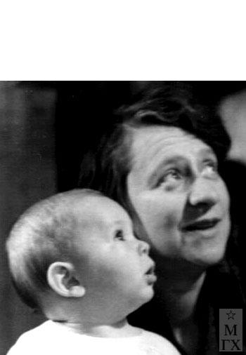 С внуком Дениской.