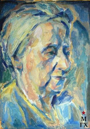 Портрет скульптора Н.И. Нисс-Гольдман (худ. Борис Карафелов). Италия, частное собрание.
