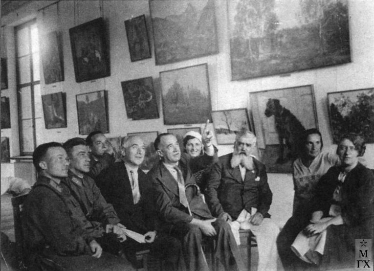 Джованни Джерманетто и Н.И. Нисс-Гольдман на выставке в МОСХе (Из архива Т. Хвостенко).