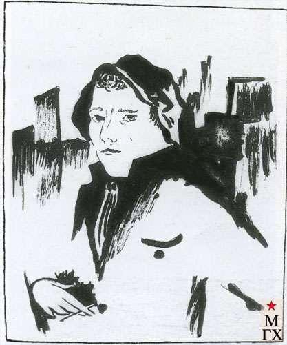 Новиков М. В. Автопортрет. 1923