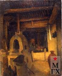 А.М. Нюренберг. Пекарня. 1923. Х.М. 41х34