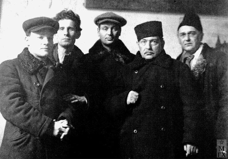 Нюренберг, Мидлер, Фальк, Нариманов, Рыбников. 1925 г.