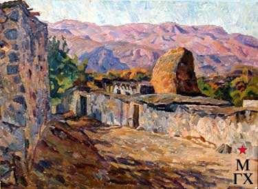 А.С.Папикян. Деревня. 1990