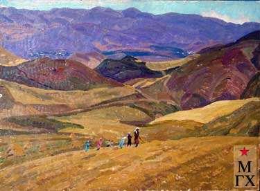 А.С.Папикян. Хлебные поля. 1989