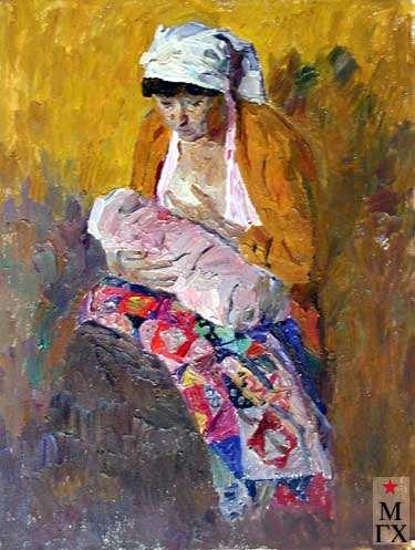 А.С.Папикян. Молодая мама (эскиз). 1988