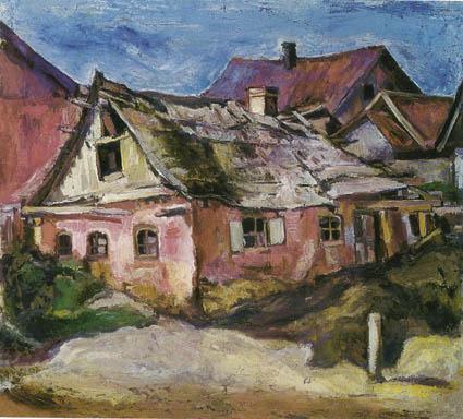 Перуцкий М. С. Дом в местечке Славута. 1929. Х.М. 62х70. ГТГ.