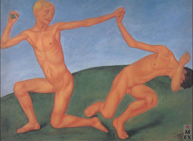 Петров-Водкин К. «Играющие мальчики», 1911, ГРМ