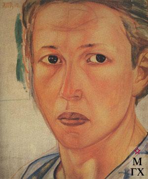 Петров-Водкин К. Портрет Н.Грековой (Казачка). 1912 Х.М. 108x91