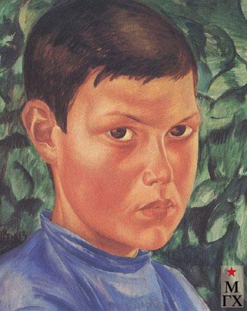 Петров-Водкин К. Портрет мальчика. 1913. Х.М. 80x64.   Пермская гос. худ.гал., Пермь