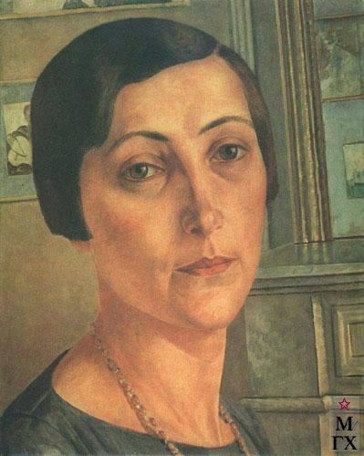 Петров-Водкин К. Портрет С. Н. Андрониковой. 1925. Х.М.  81x65. ГРМ, Москва