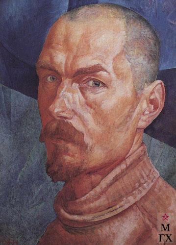 Петров-Водкин К. Автопортрет. 1926-1927.  Х.М. 71x53. ГРМ, Санкт-Петербург