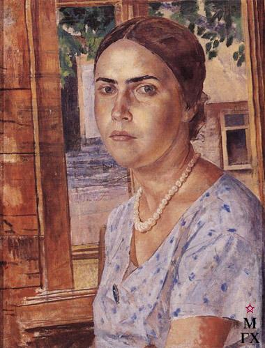 Петров-Водкин К. Девушка у окна. 1928. Х.М. 114x87. ГРМ, Санкт-Петербург
