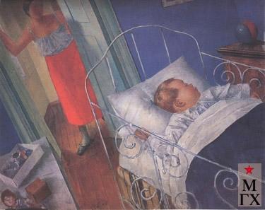 Петров-Водкин К. В детской. 1925. Х.М. 45.5x65