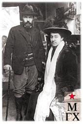 К. С. Петров-Водкин с женой в Париже.