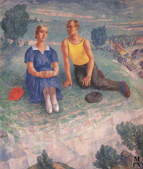 Петров-Водкин К. Весна. 1935. Х.М. 185x156.5. ГРМ, Санкт-Петербург