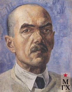Петров-Водкин К. Автопортрет. 1929. Х.М. 47x37. ГРМ, Санкт-Петербург.