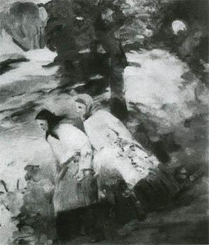 Платунова А. Г. Девушки. Миниатюра из серии «Фантазии». 1932. Бум.М.13.6х11.7.