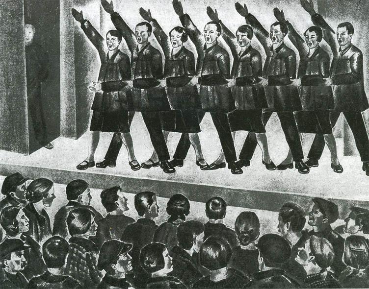 Платунова А. Г. Живая газета в рабочем клубе. Конец 1920-х.