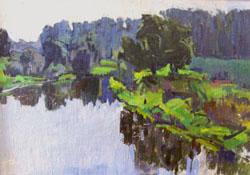 В.В. Почиталов. Тихая река. 1967. Х.К.М. 50Х70.