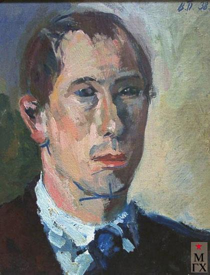 В.В. Почиталов. Автопортрет. 1938. Х.М. 50х40