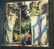 В.В. Почиталов. Окно. Этюд. 1953.