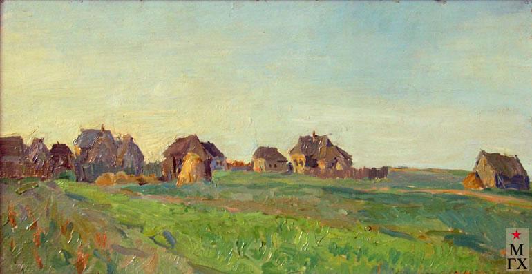 В.В. Почиталов. Деревня Самсоново. 1925. К.М. 31Х59.5