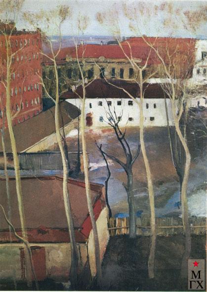 В.В. Почиталов. Вид на Казарменный переулок. 1937.