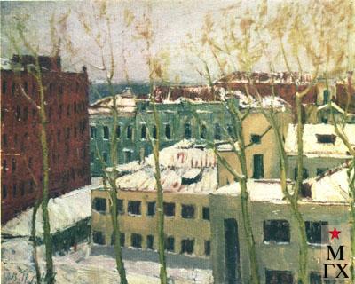 В.В. Почиталов. Вид из окна. 1947.