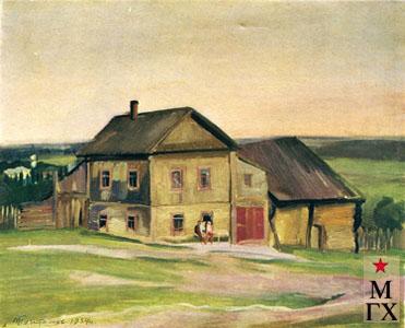 В.В. Почиталов. Под Соликамском. 1934. Х.М. 65х80