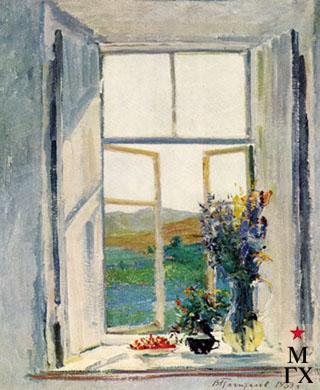 В.В. Почиталов. Из моего окна. Крым. 1939. Х.М. 60Х50