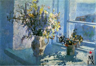В.В. Почиталов. Крым. Букет цветов. 1946. Х.М. 59х89